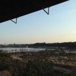 好文亭から眺める梅