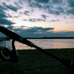 那珂湊港で釣り