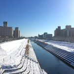 水戸市桜川の雪景色